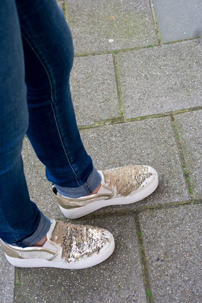 Sequined sneakers