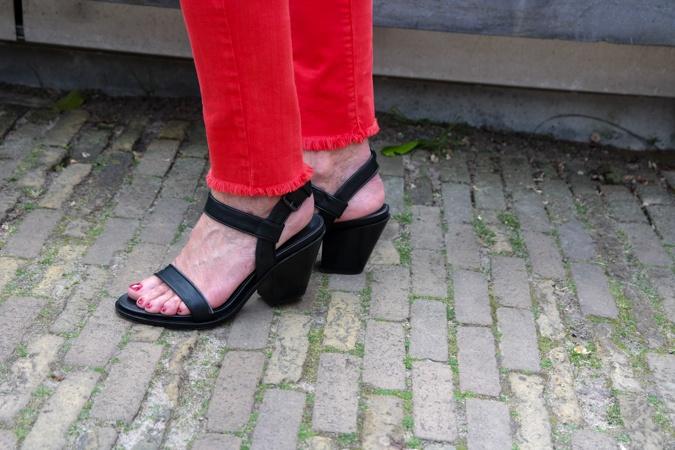 Black sandals with block heel AF Vandevorst