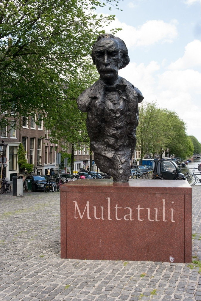 Amsterdam, statue of Multatuli