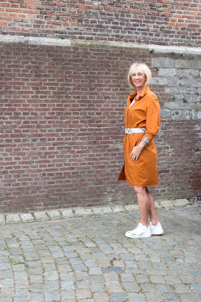 Saffron shift dress