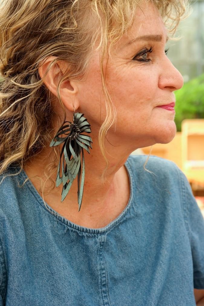 Rubber earring Anja