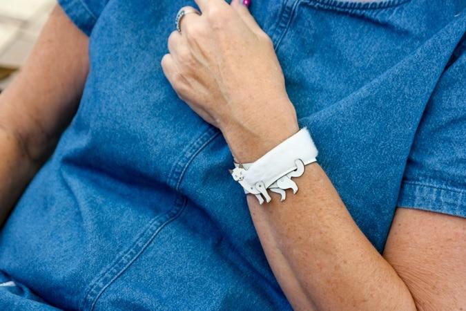 white cat bracelet Anja
