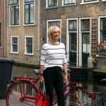Wearing a black and white striped jumper to Delft