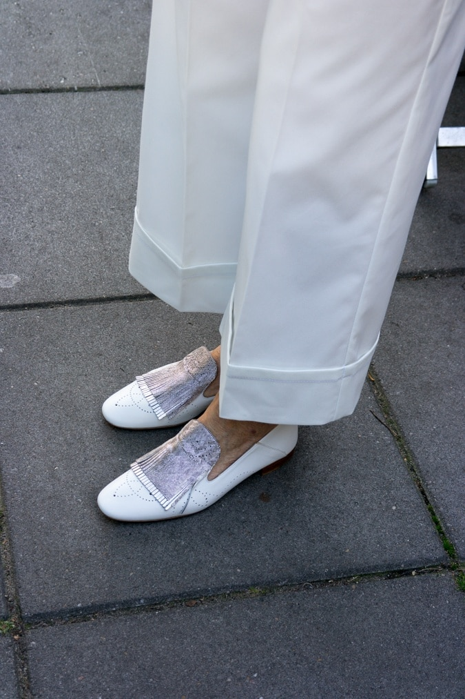 Fratelli Rossetti white loafers