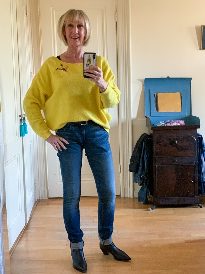 Big yellow jumper