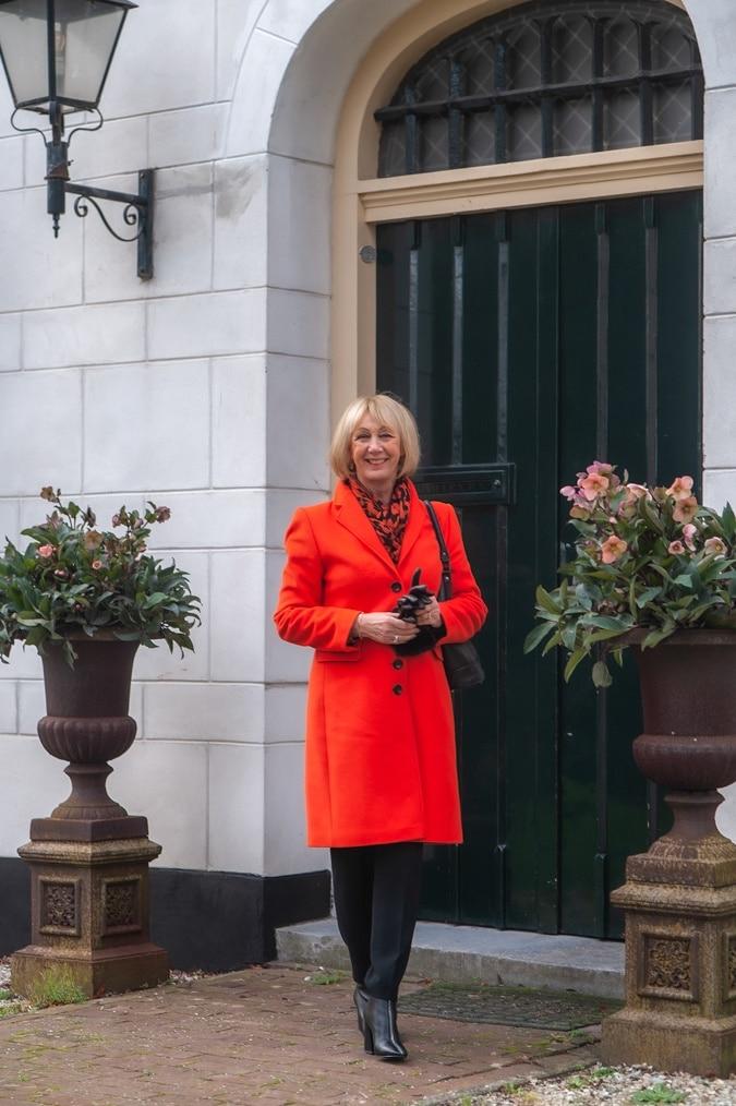 Orange coat