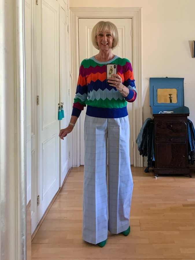 Outfit Saturday with zig zag jumper