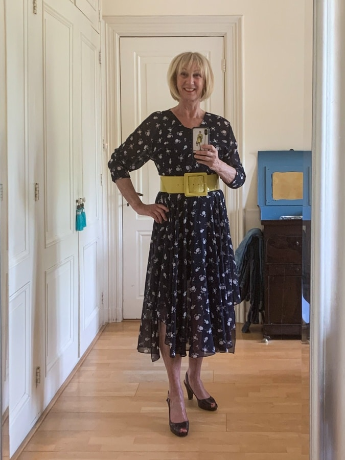 Outfit Tuesday blue floral dress