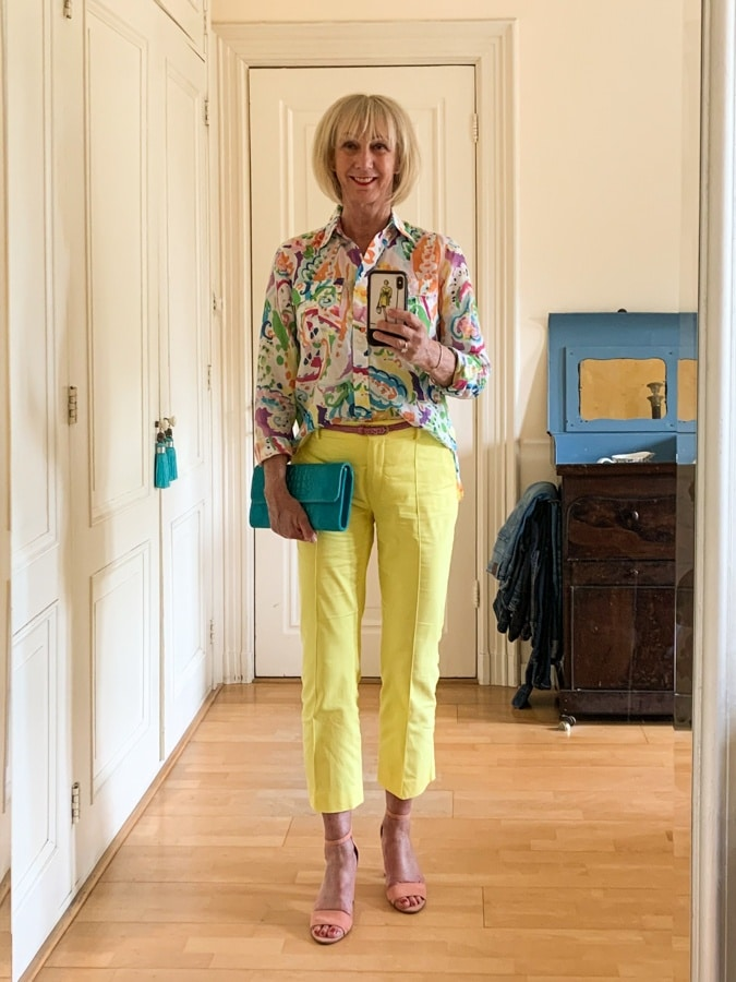 Outfit Wednesday multi-coloured shirt