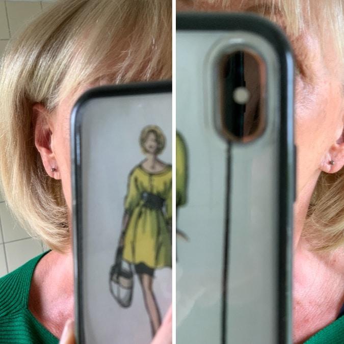 Pierced earlobes