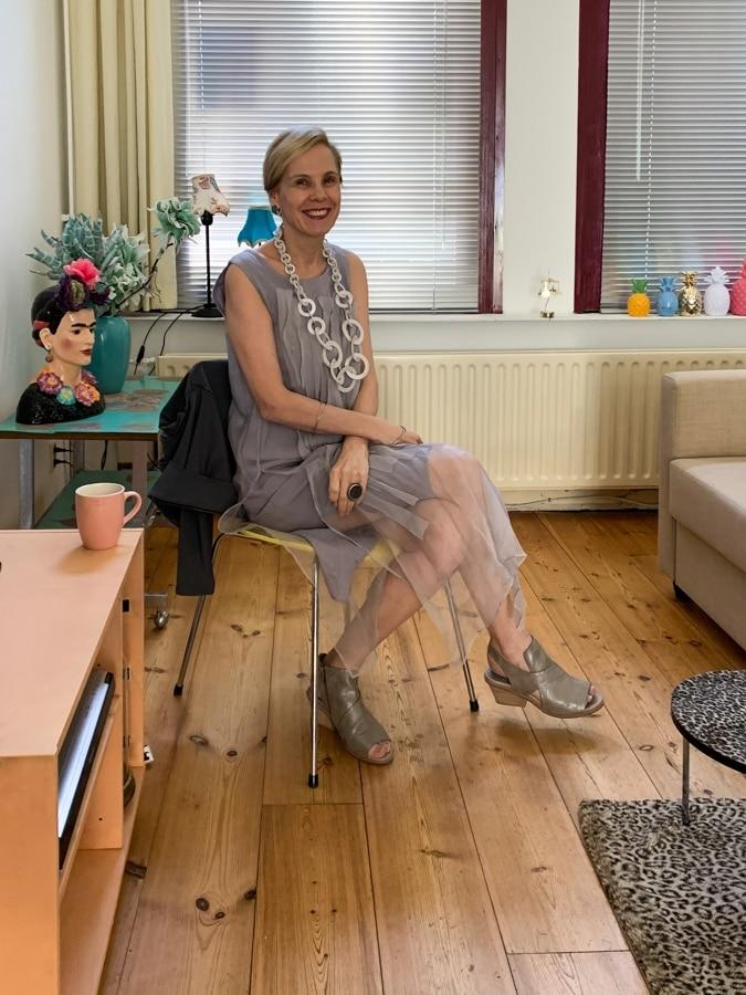 Sylvia at Anja's house