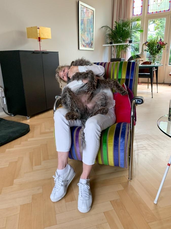 Anja wrestling with Watson