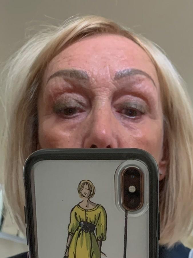 Eyebrows close up