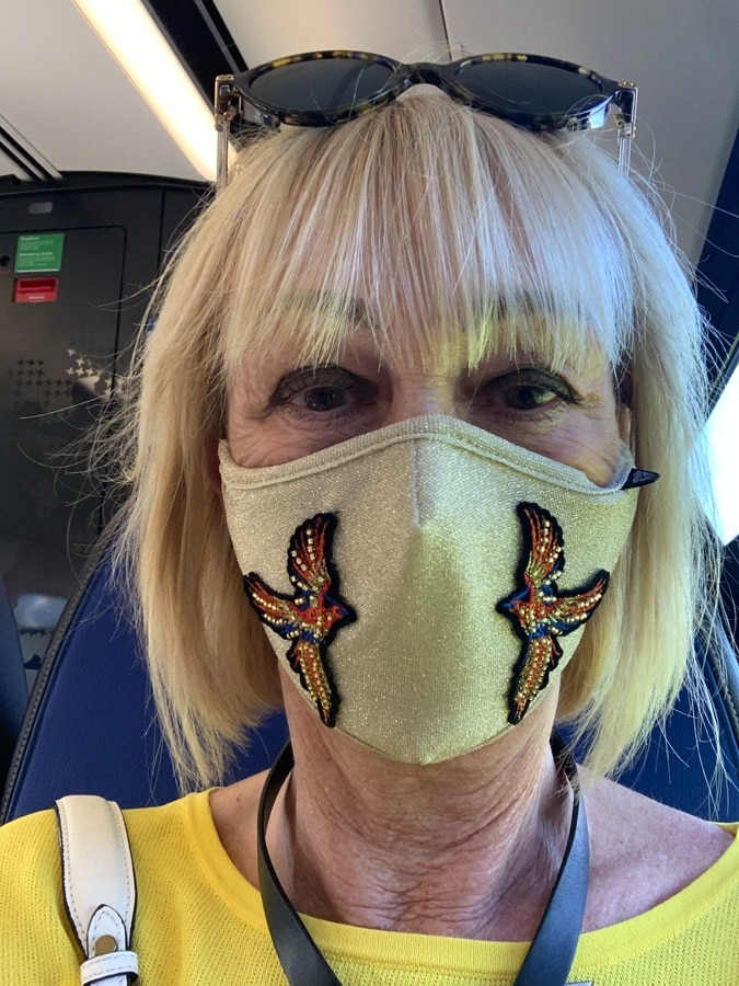 Face mask on my way home