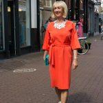 Orange dress and the Shopping Saturday girls