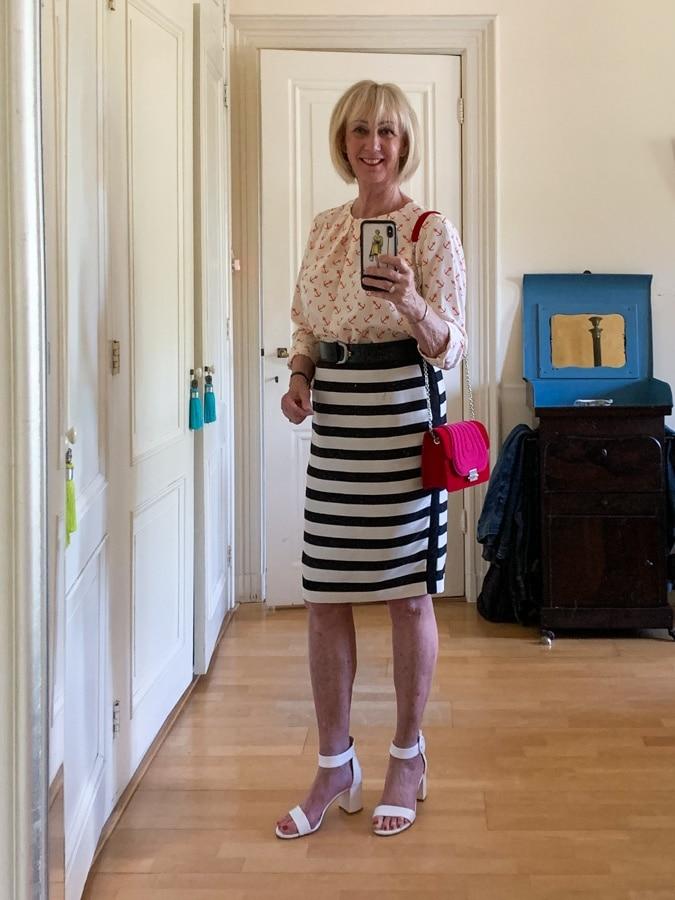Striped pencil skirt Monday