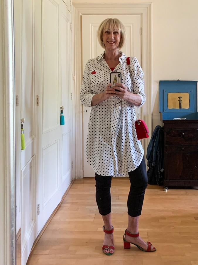 Outfit Sunday with polka dot dress