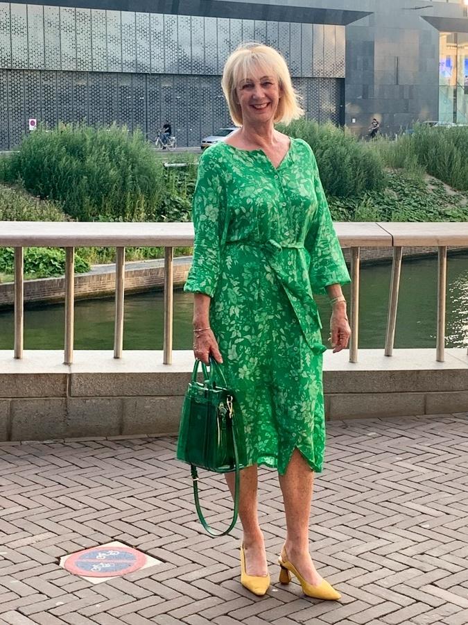 Green summer maxi dress by Essentiel