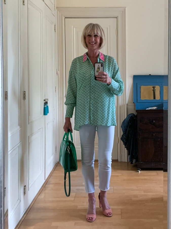 Outfit Sunday, green checked tunic shirt