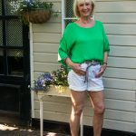 Shorts with a silk top to fight the heat