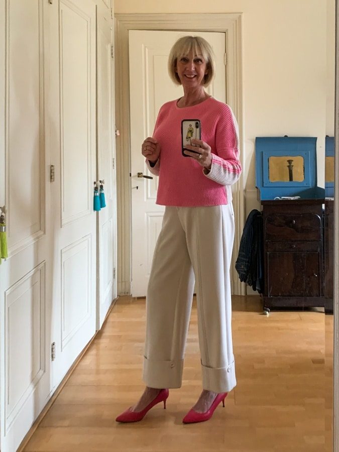 Pink trouser outfit