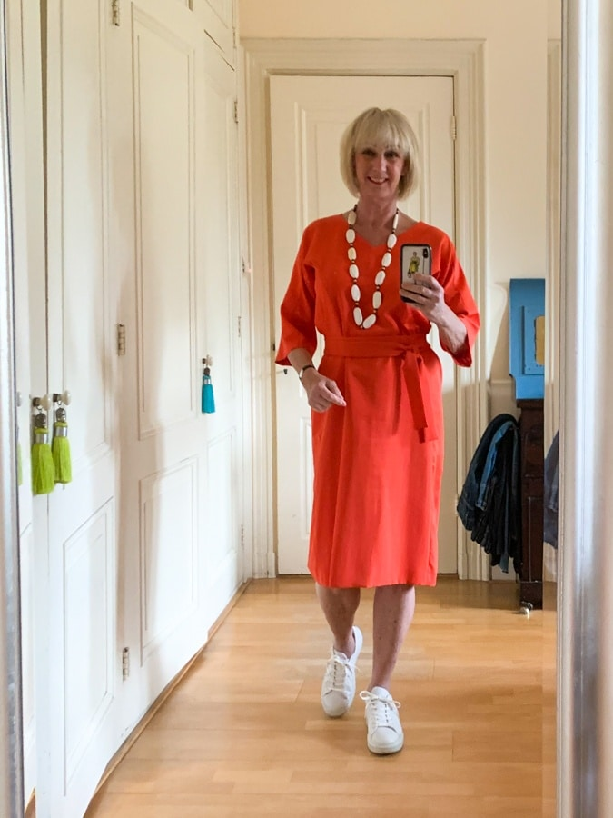 Outfit Wednesday Orange dress