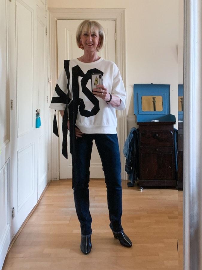 Dries van Noten sweater with black ribbons