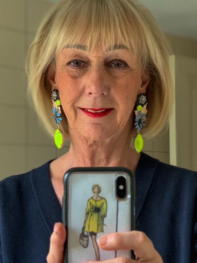 Lime earrings Essentiel