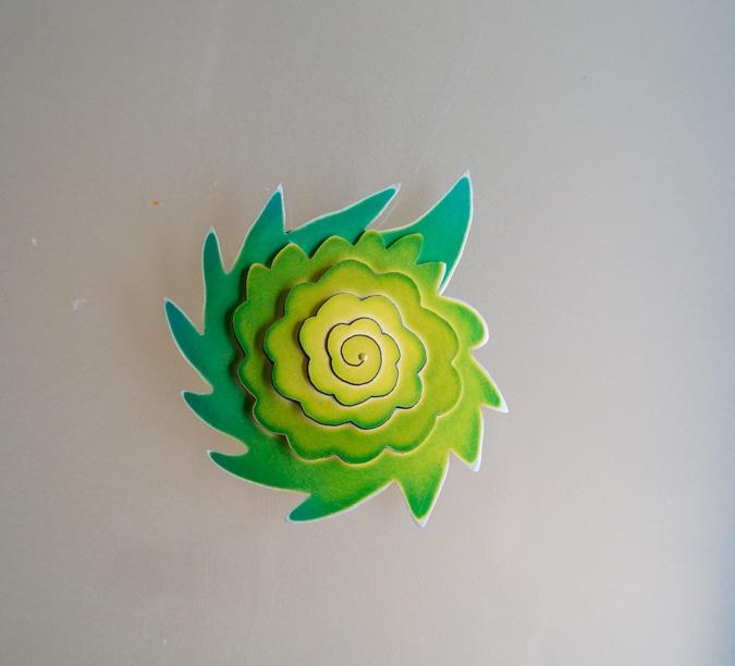 light green brooch by Sylvia Blickman