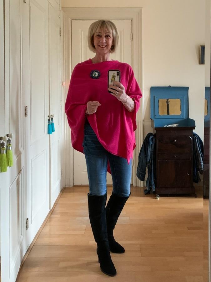 Pink Hope Fashion poncho
