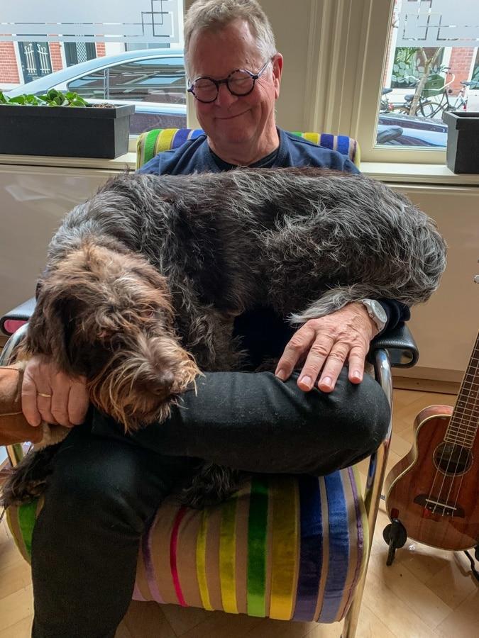Watson on Ron's lap