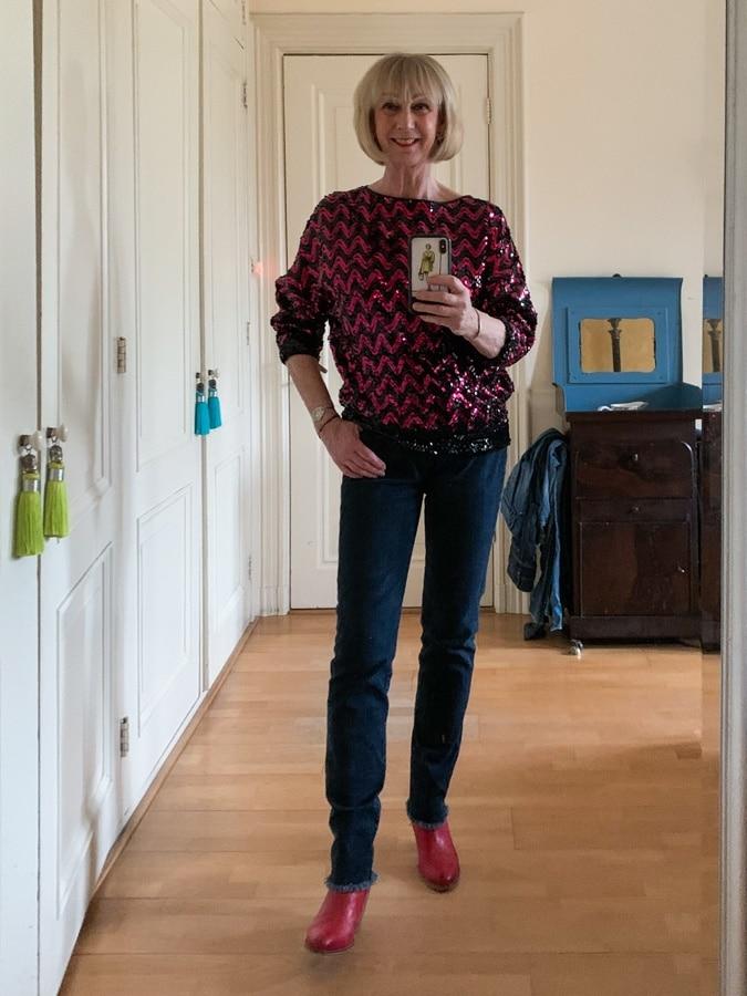 Sequinned jumper