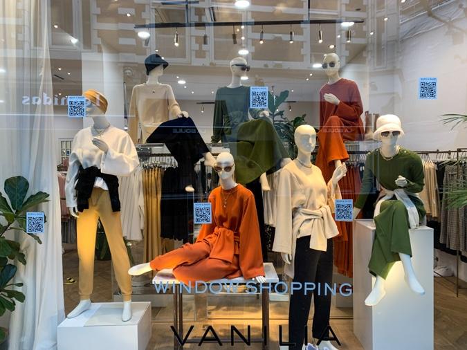 Shop window of Vanilia