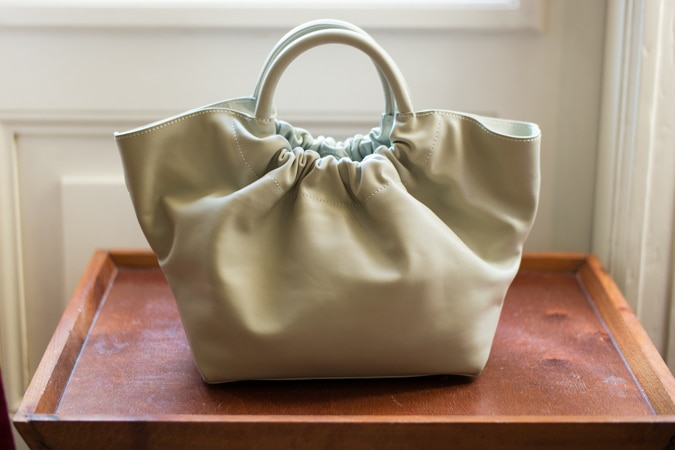 pale slate Demellier bag