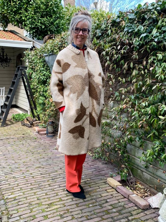 Katrien with coat