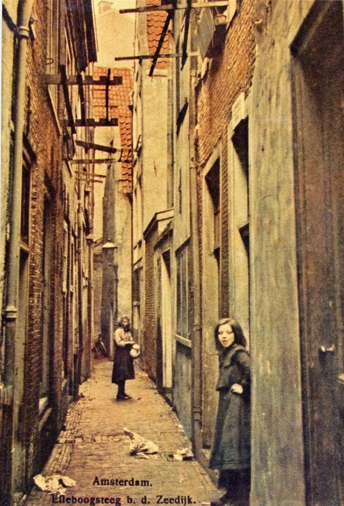 Amsterdam, Zeedijk in 1850
