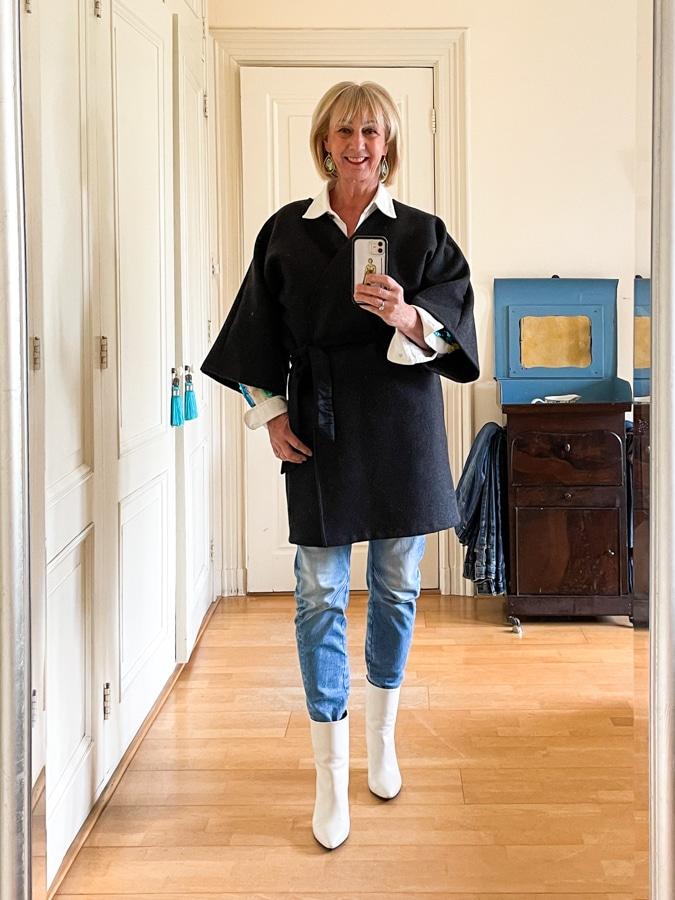Kimono type coat