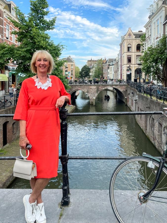 Orange dress in Utrecht