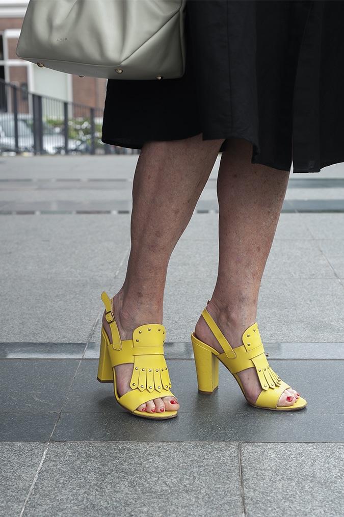 yellow sandals by Michel Vivien