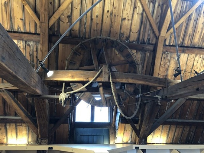 inside the attic of the library