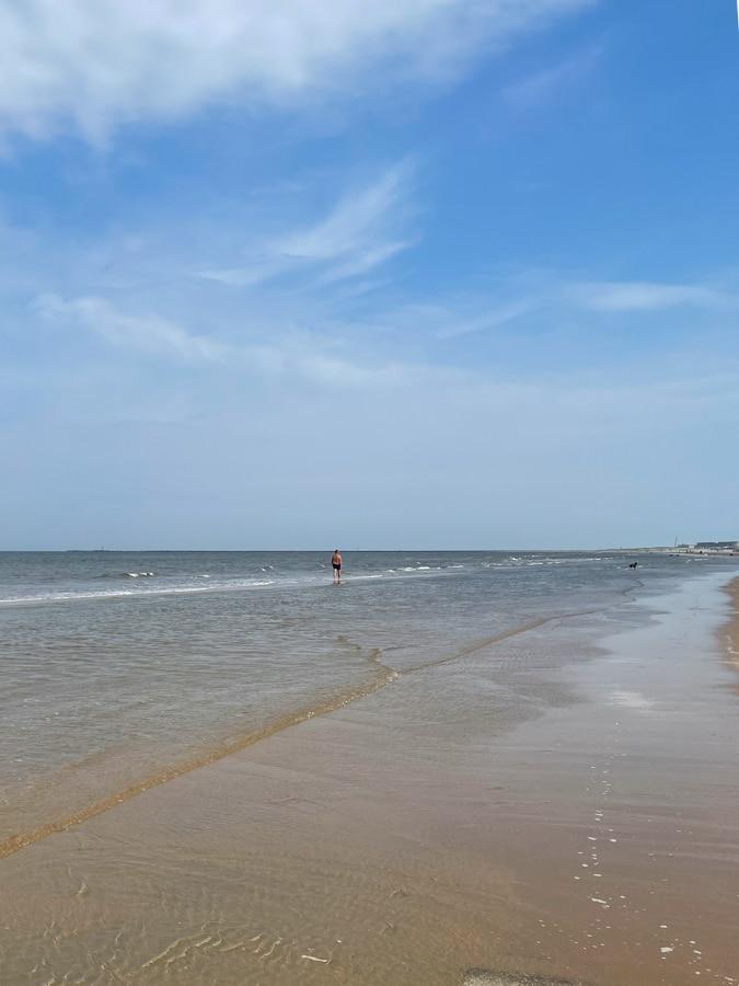 IJmuiden beach on Thursday morning