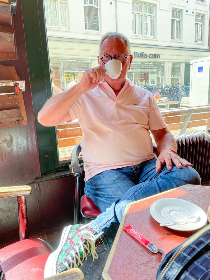 Ron in Café Krom Amsterdam