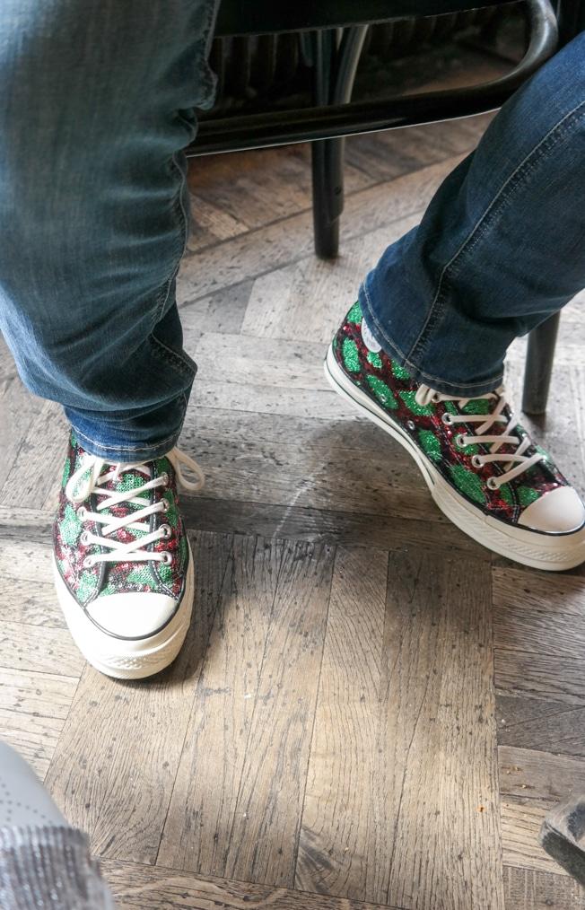 glitter Converse sneakers