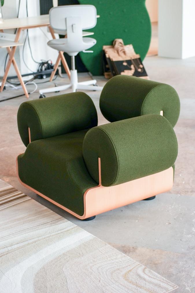 Green chair Piet-Hein Eek