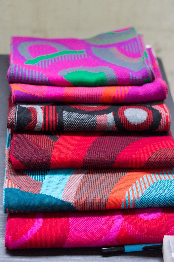 Colourful knitted scarves Knitwear Lab