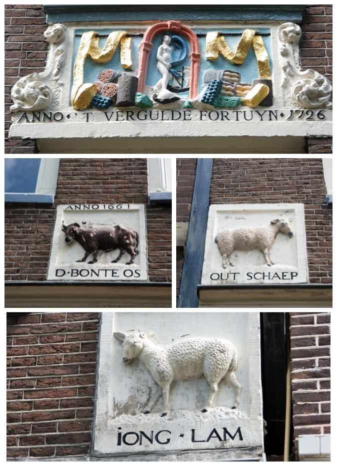 Face bricks in Amsterdam collage