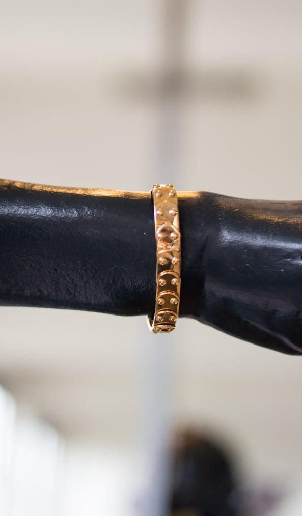 Gold plated bracelet by tweek-eek