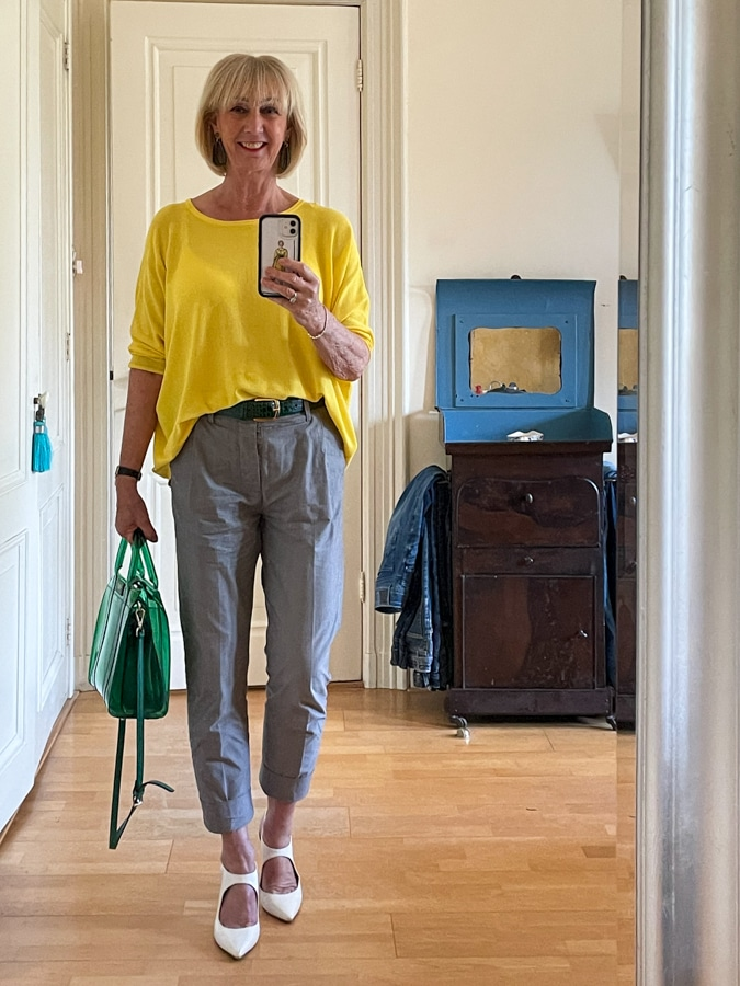 Outfit Wednesday yellow jumper