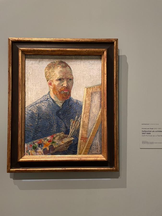 Self-portrait Van Gogh Museum Amsterdam