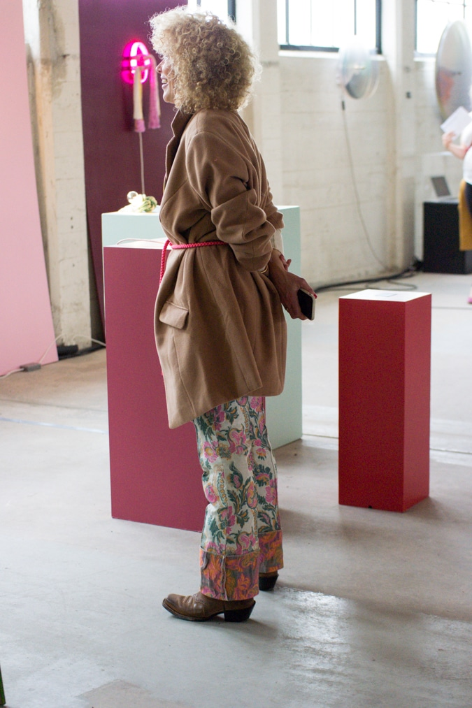 Well-dressed lady at the OBJECT exhibition